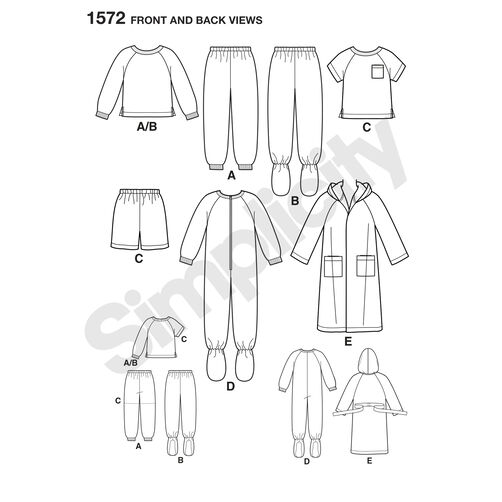 Pattern for Toddlers' and Child's Sleepwear and Robe