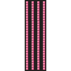 Pink Mosaic Border Stickers_50-00248