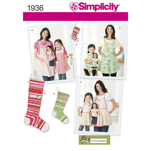 Simplicity Pattern 1936 Child's & Misses' Aprons