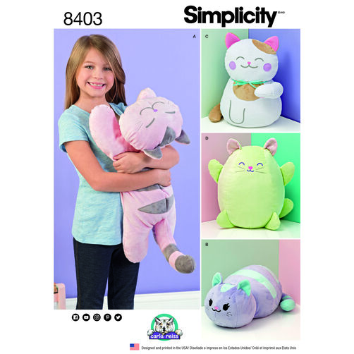 Simplicity Pattern 8403 Stuffed Kitties
