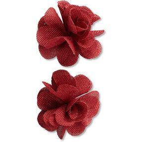 Red Burlap Flower Embellishments_50-60336