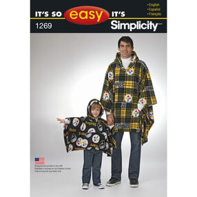 It's So Easy Pattern 1269 Stadium Poncho in Two Sizes