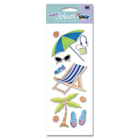 A Day at the Beach Sunbathing Stickers_SPJJ132