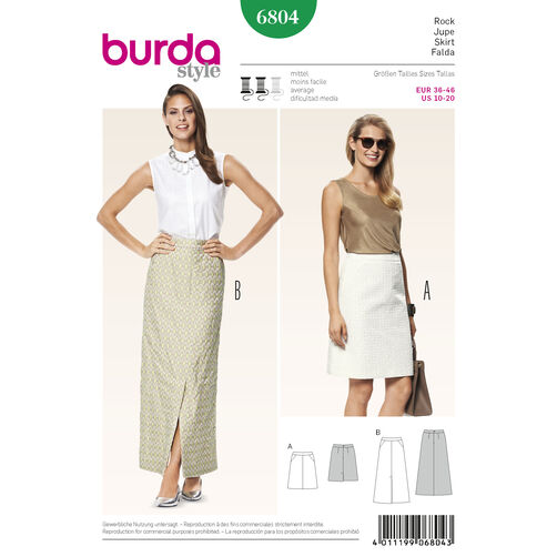 Pattern For Burda Style Skirts Simplicity