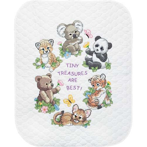 Baby Animals Quilt, Stamped Cross Stitch_73064