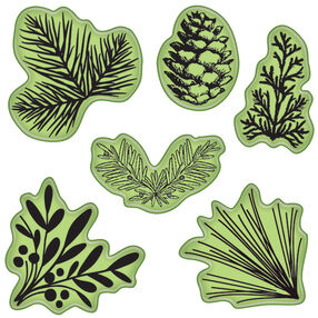 Pinecones & Evergreens Cling Stamps_65-32073