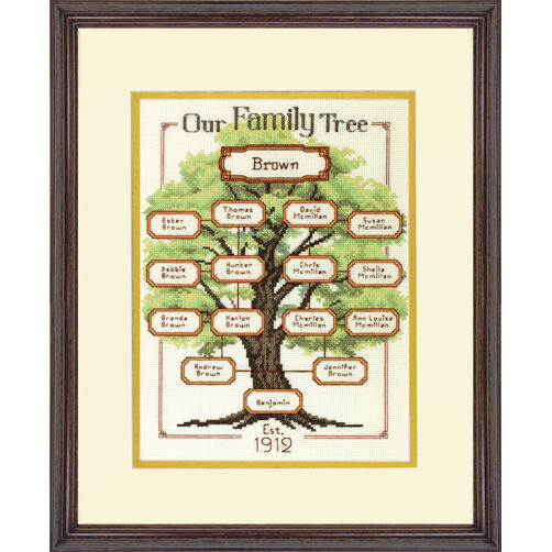 Our Family Family Tree Counted Cross Stitch Kit_70-73809