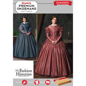 Simplicity Pattern EA440001 Premium Print on Demand Misses' Civil War Costume Dress