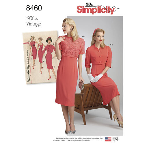 simplicity pattern 8460 misses u0026 39  vintage dress and jackets