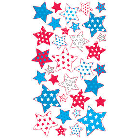 Red White Blue Stars  Metallic Stickers_52-00279