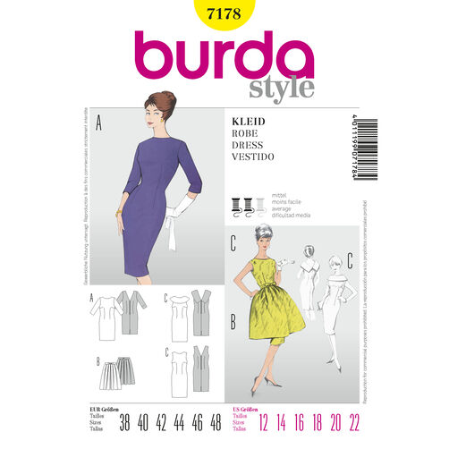 Burda Style Pattern 7178 Dress