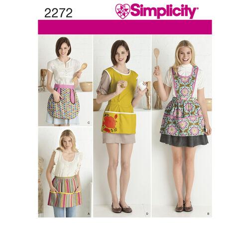 Simplicity Pattern 2272 Misses' Aprons