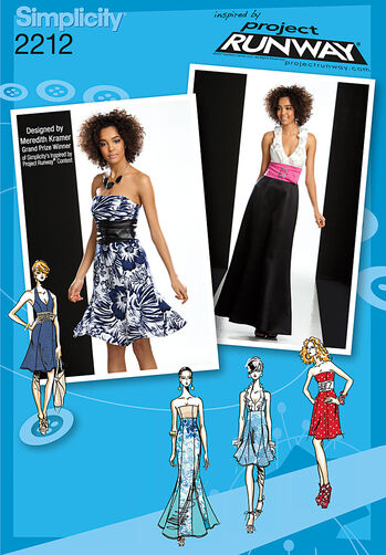 Simplicity Pattern 2212 Misses' Dresses. Project Runway Collection