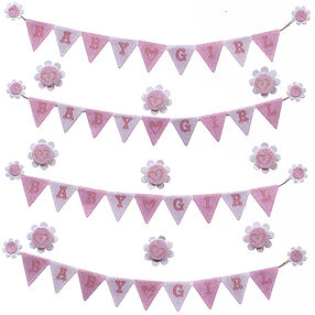 Baby Girl Banner Repeat Stickers_50-21656