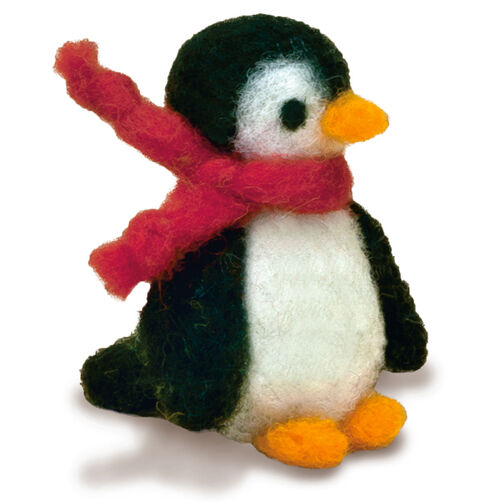 Penguin Felted Character Needle Felting Kit_72-73804