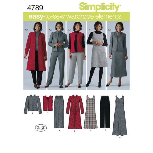 Simplicity Pattern 4789 Misses' & Plus Size Sportswear