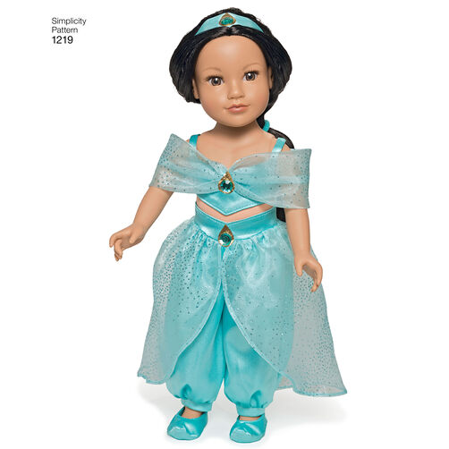 """Disney Princess Doll Clothes: Pattern For Disney Princess 18"""" Doll Clothes"""