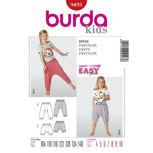 Burda Style Pattern 9493 Pants