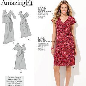 Misses' & Plus Sizes Amazing Fit Knit Dress