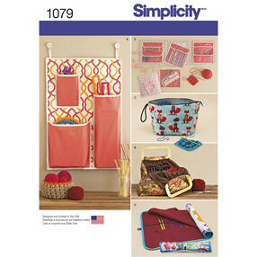 Simplicity Pattern 1079 Knitting and Crochet Storage Accessories
