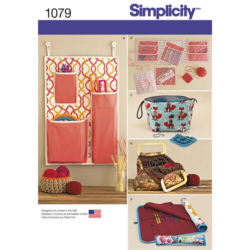 pattern for knitting and crochet storage accessories
