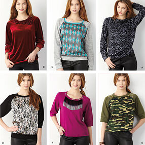 Misses' Pullover Knit Top