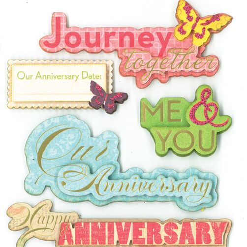 Anniversary Celebration Dimensional Sticker  _30-577770