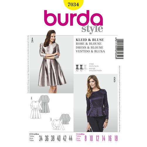 Burda Style Pattern 7034 Dress & Blouse