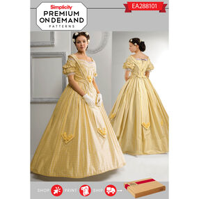 Simplicity Pattern EA288101 Premium Print On Demand Costume Pattern