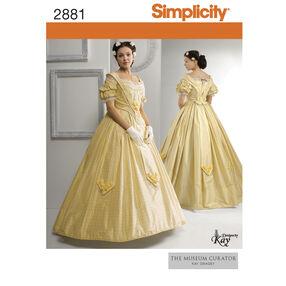 Simplicity Pattern 2881 Misses Civil War Costume