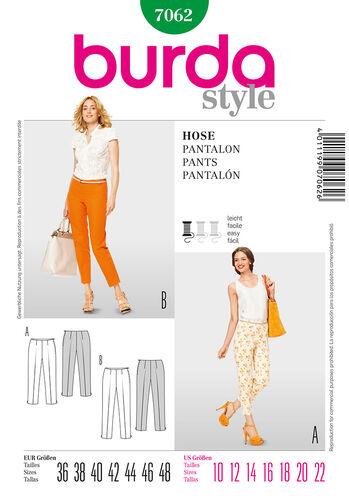 Burda Style Pattern 7062 Pants