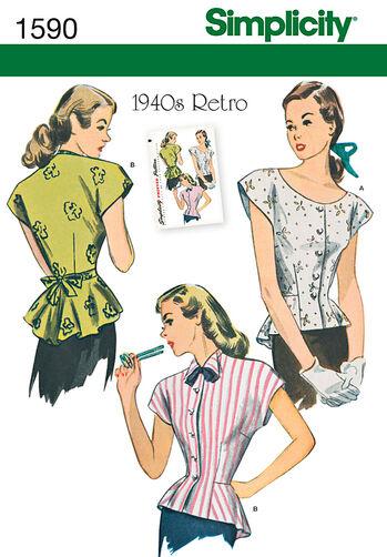 Misses' 1940's Retro Blouse