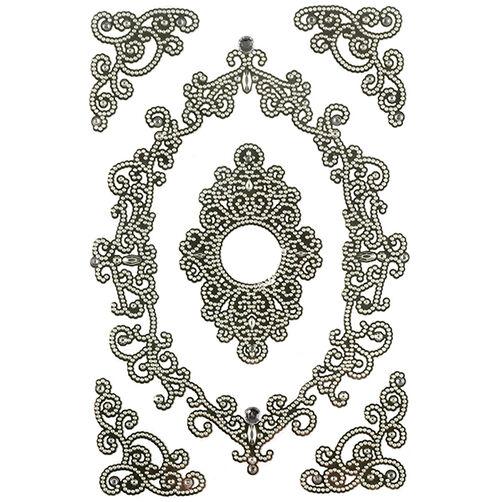 Elegant Filigree Frame in Frame Stickers_41-05020