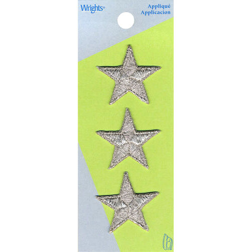 Metallic Star Iron-On Applique Set