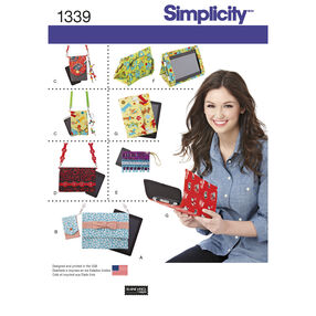 Simplicity Pattern 1339 Covers for Tablet, E-Reader and Phone