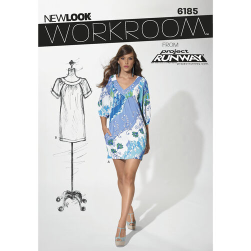New Look Pattern 6185 Misses' Pullover Dress