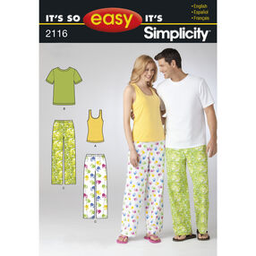 It's So Easy Pattern 2116 Misses' Sleepwear