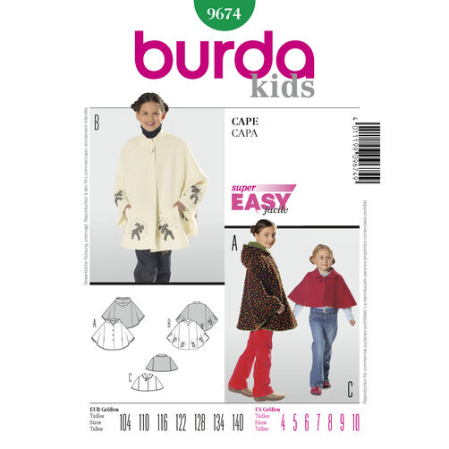 Burda Style Pattern 9674 Cape