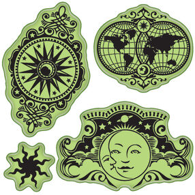 Celestial Motifs Cling Stamps_65-32081