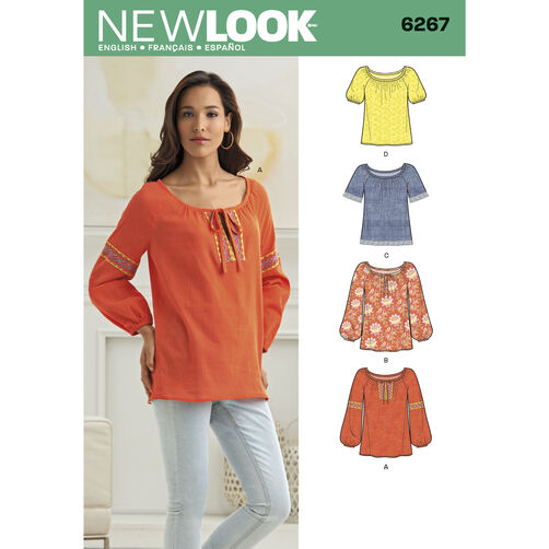 New Look Pattern 6267 Misses' Pullover Top in Two Lengths