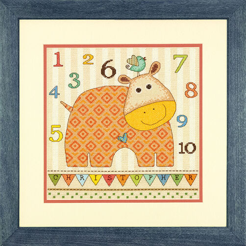 Baby Hippo 123 in Counted Cross Stitch_70-73989