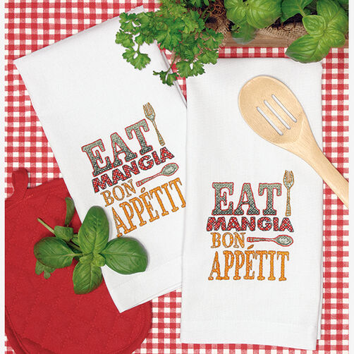 Good Eats Hand Towels in Stamped Cross Stitch_72-73983