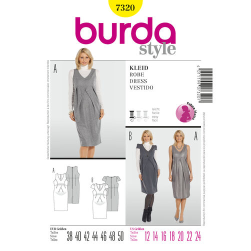 Burda Style Pattern 7320 Dress