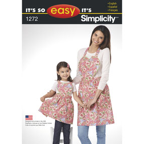 It's So Easy Pattern 1272 Child's and Misses' Aprons