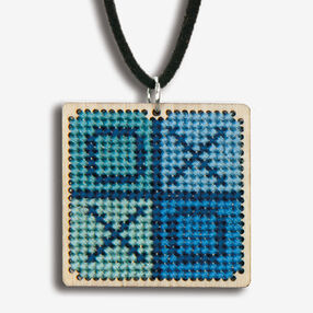 Large XO Finished Pendant, Counted Cross Stitch_72-74080