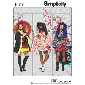 Simplicity Pattern 8317 Misses' Geisha Costumes