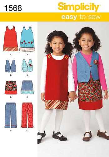 Child's Jumper, Vest, Pants and Skirt
