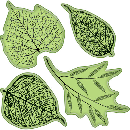 Fossil Leaves Cling Stamps_65-32011
