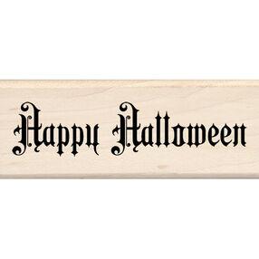 Steampunk Happy Halloween Wood Stamp_60-00588