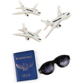 Passport, Sunglasses and Plane Embellishments_50-00548